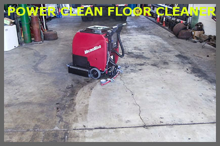 Floor cleaning chemicals for Mechanic shop flooring